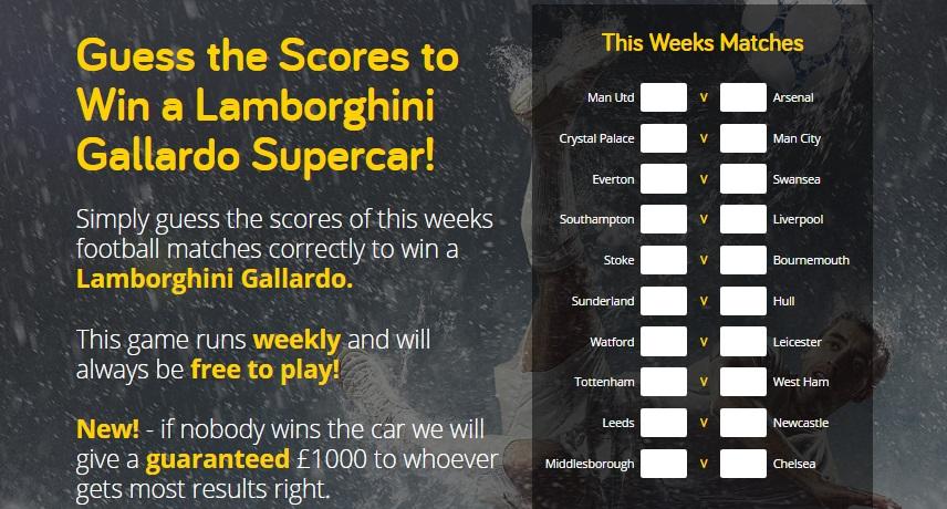 Guess The Score And WIN A Lamborghini Gallardo   Fantasy Premier League  Tips, News U0026 Views By Fantasy Football Pundits