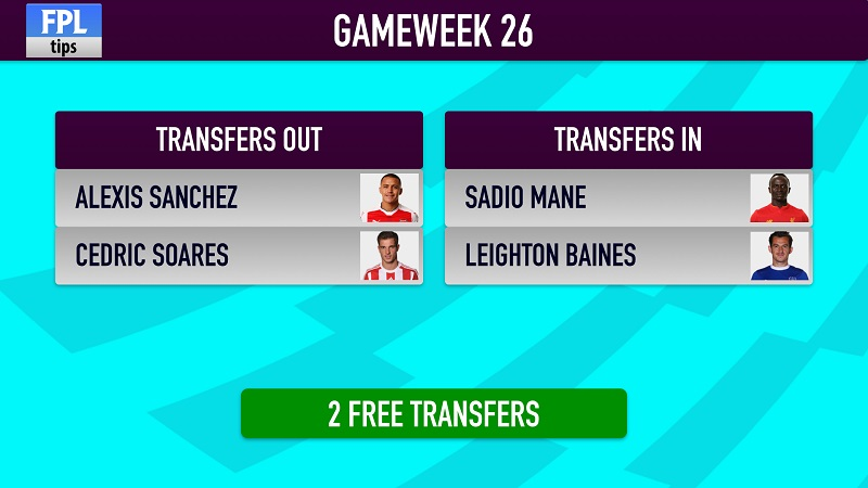 potential FPL transfers for Gameweek 26