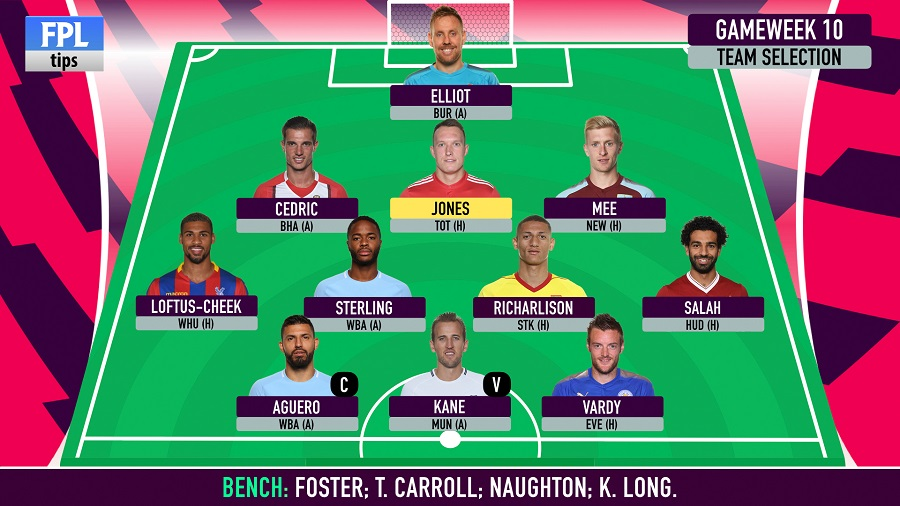 Gameweek 10 team selection and possible transfers