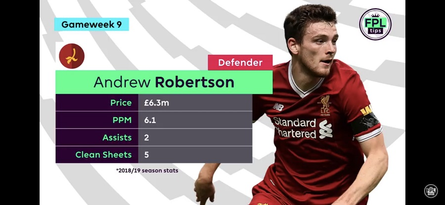 Andrew Robertson - FPL Gameweek 9 tips