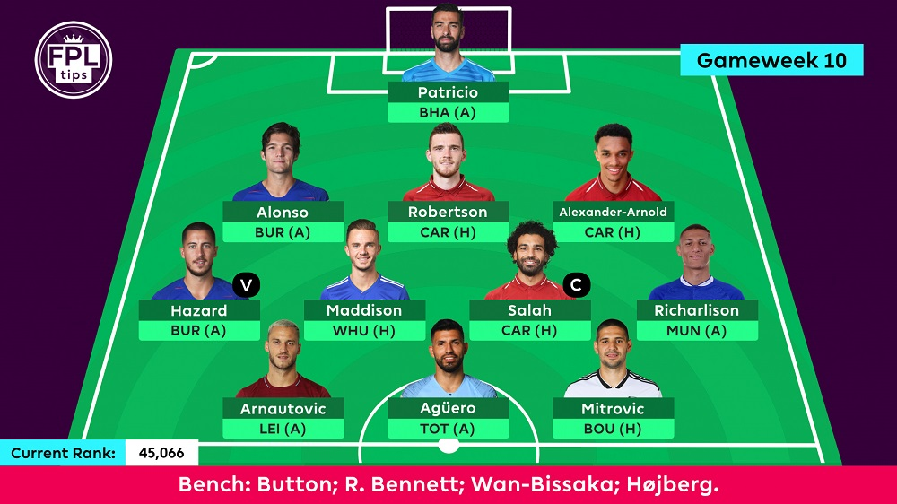 Gameweek 10 Team - FPLtips