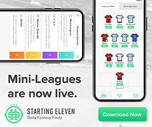 starting11 - daily fantasy football mini leagues