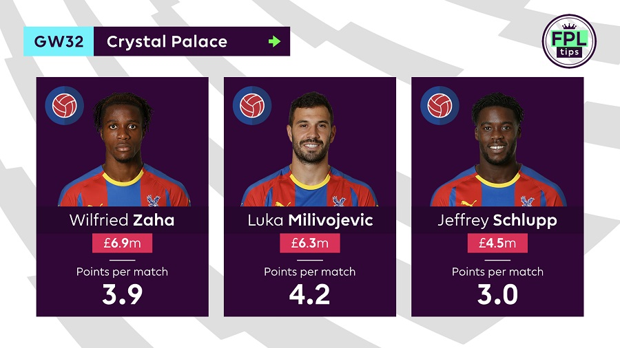 Crystal Palace - Double Gameweek 32 FPL tips