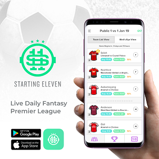 starting11 - daily fantasy football app