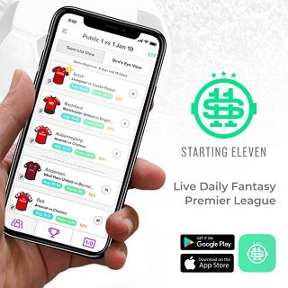 starting11.io - daily fantasy football app