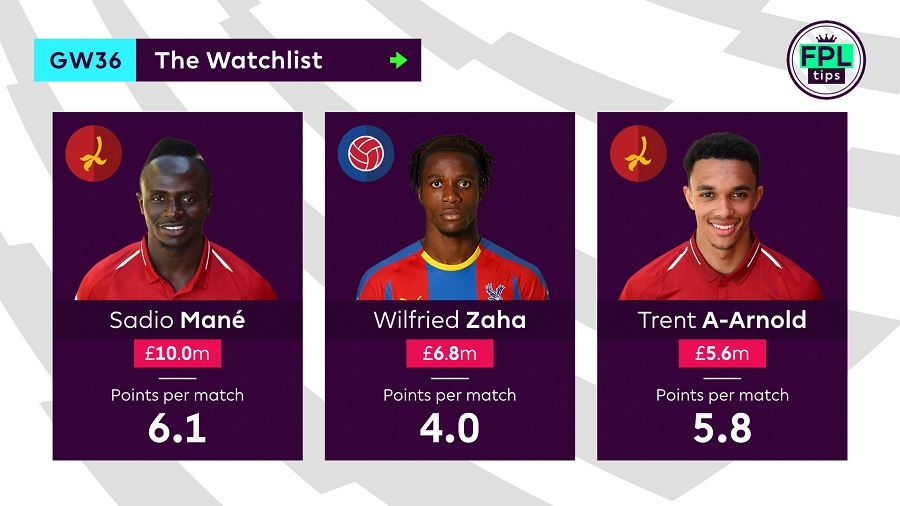 The Watchlist - FPLTips Gameweek 36