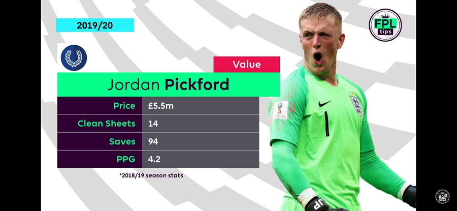 FPL Goalkeepers - Pickford