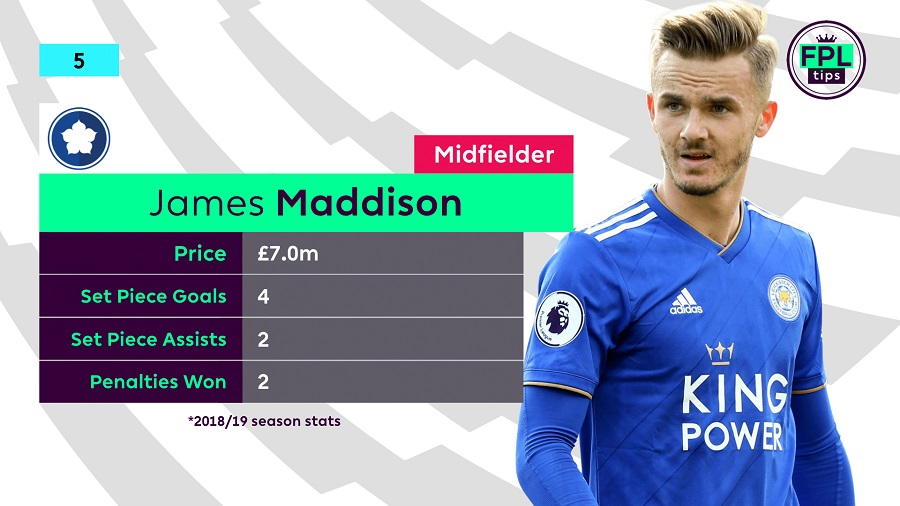 FPL Set Piece Takers - James Maddison