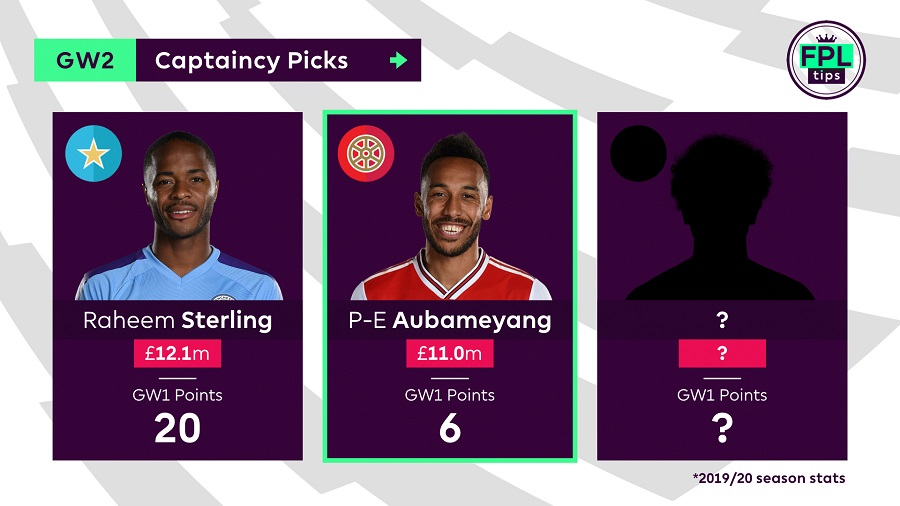 Captain Tips - Gameweek 2 - Aubameyang