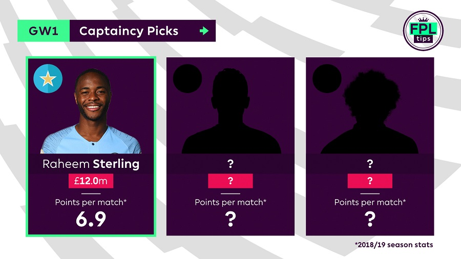 FPL Captain Tips - Gameweek 1 - Raheem Sterling