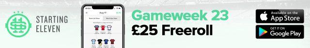 STARTING 11 DAILY FANTASY FOOTBALL - GAMEWEEK 23
