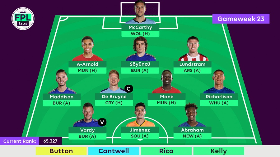 FPLTips - Final Team - Gameweek 23