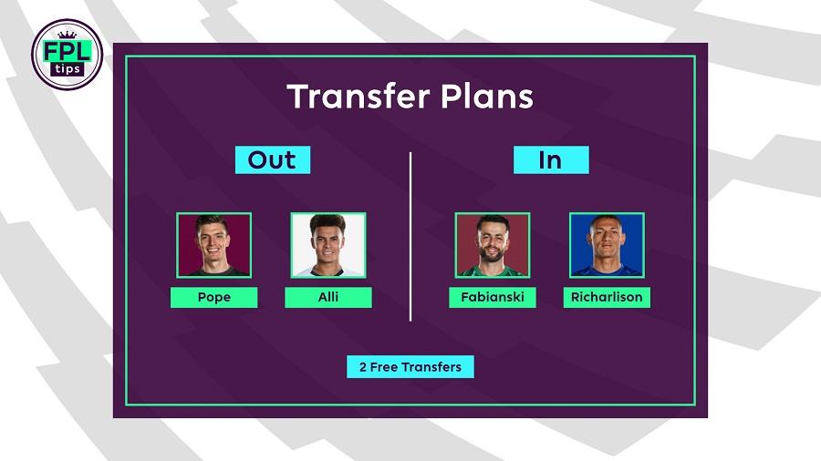 FPLTips Gameweek 22 transfers