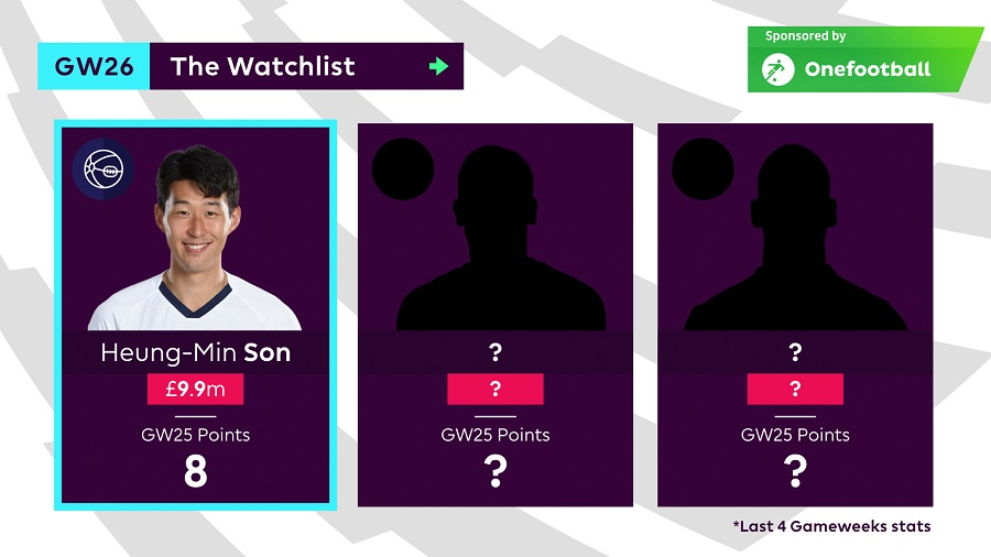 FPL Tips - Gameweek 26 - Son