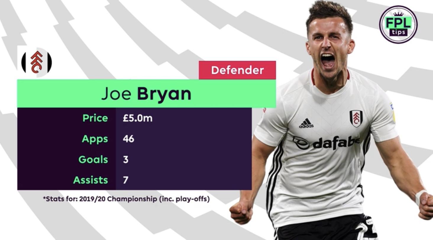 Joe Bryan Fulham FC - FPL Tips