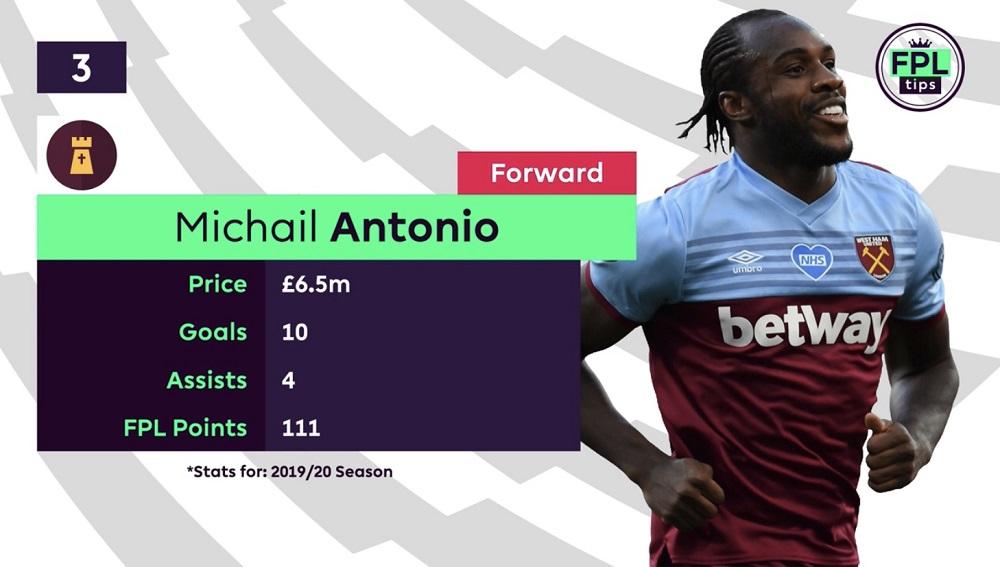 FPL Tips - Forwards - Michail Antonio - West Ham