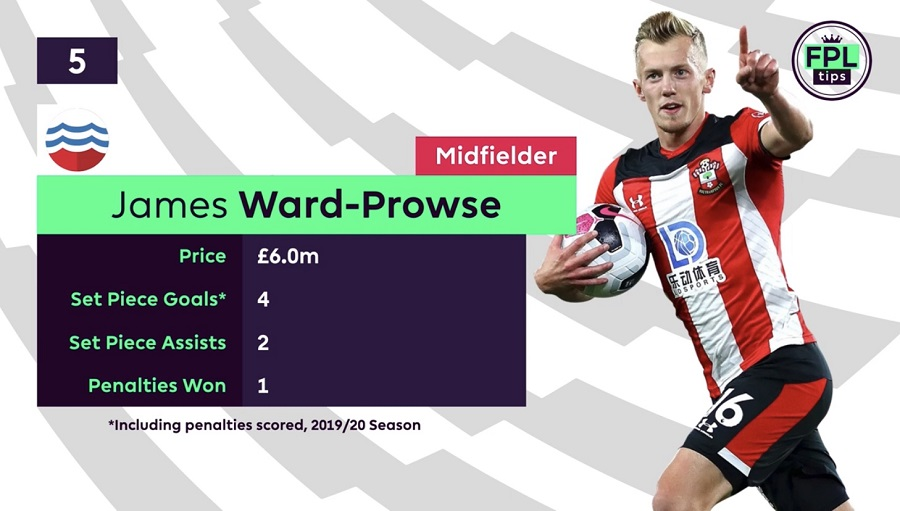 FPLTips - set piece takers - ward-prowse