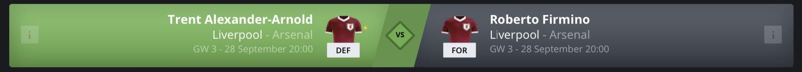 FanTeam Player Matchups - PL Gameweek 3