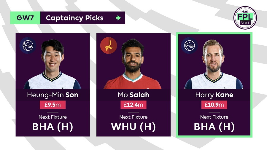 FPL Captain Tips and Picks for Gameweek 7 - Harry Kane