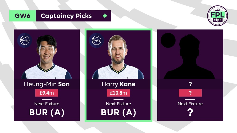 FPLTips - Captains Picks - Gameweek 6 - Harry Kane