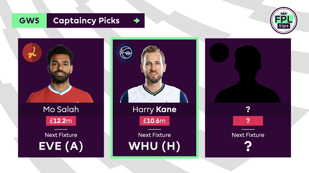 Gameweek 5 FPL Captain Tips - Harry Kane