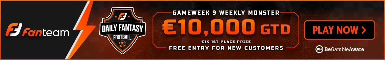 FanTeam weekly monster 10,000 euro