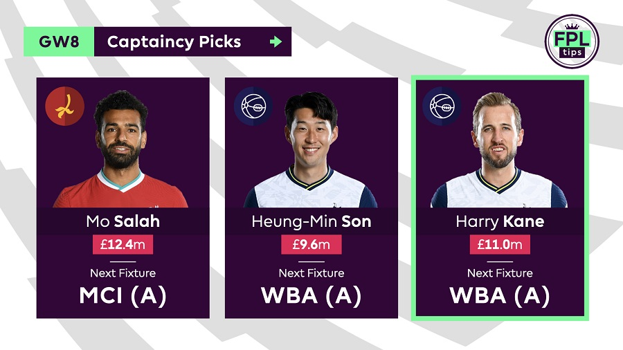 FPLTips Captain Picks Gameweek 8 - Harry Kane