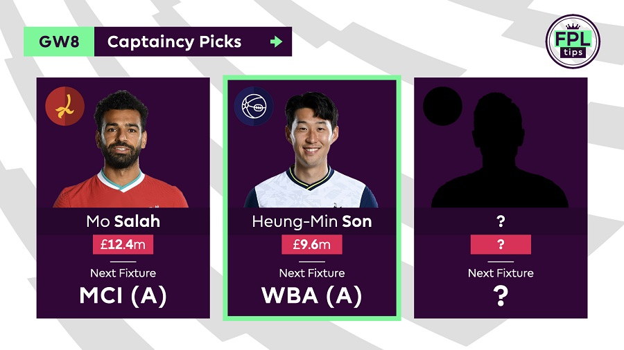 FPLTips Captain Picks Gameweek 8 - Son
