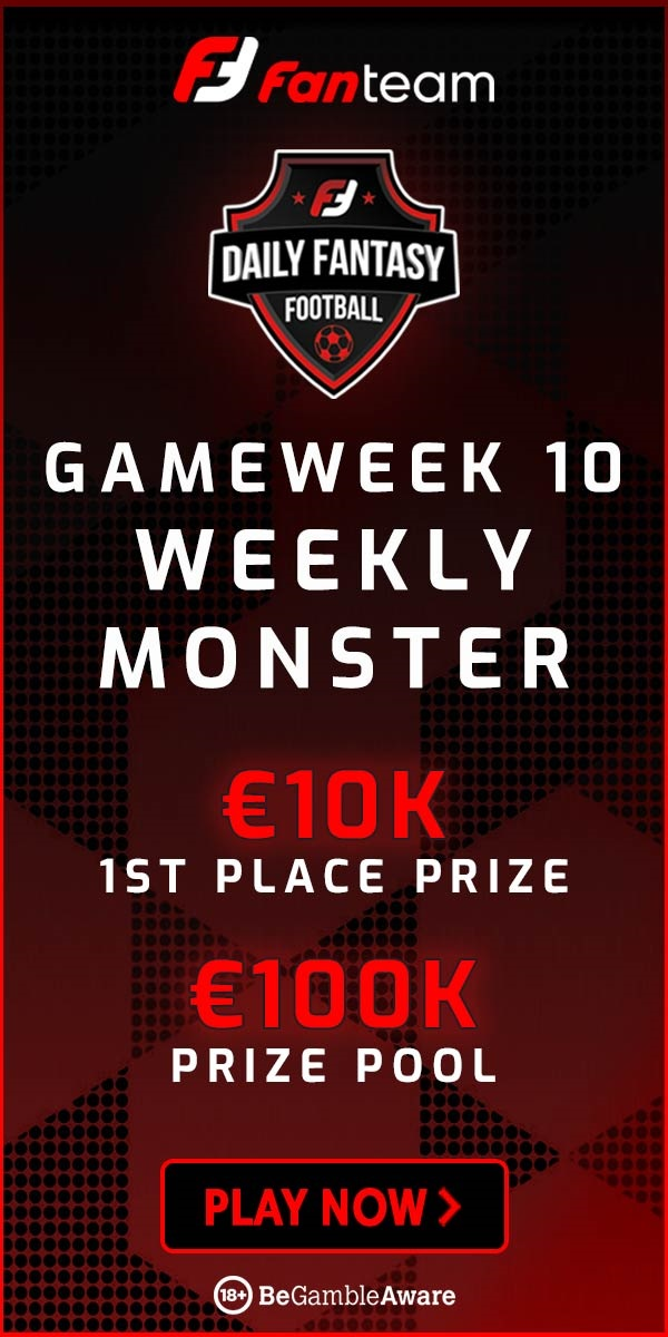 FanTeam Weekly Monster for Gameweek 10