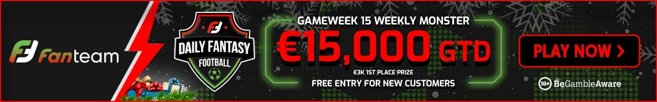 FanTeam Weekly Monster - Gameweek 15 Free Entry