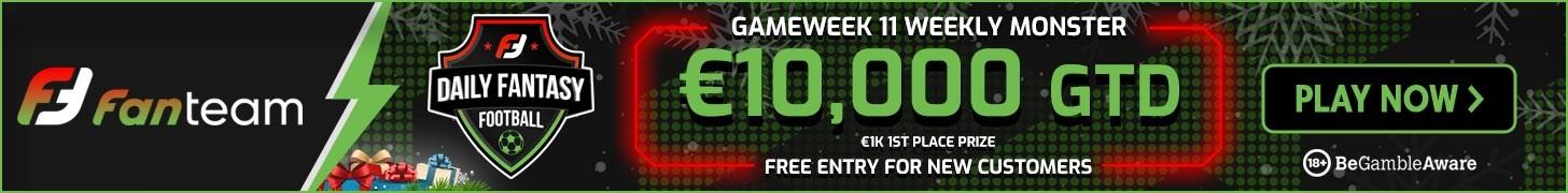 Gameweek 11 Weekly Monster