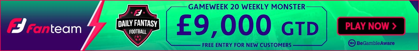 FanTeam Gameweek 20 Weekly Monster