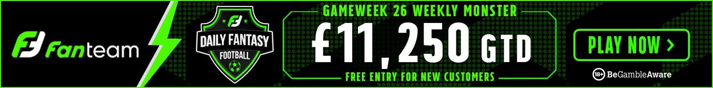 FanTeam Weekly Monster - Gameweek 26