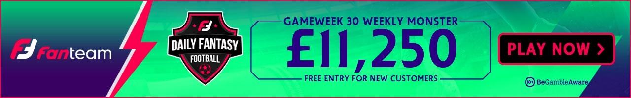 Gameweek 30 Weekly Monster
