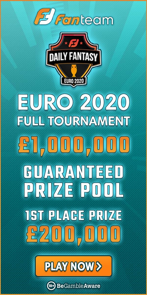 Euro2020 fantasy football on FanTeam £1,000,000 million