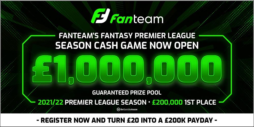 FANTEAM 1 MILLION FANTASY PREMIER LEAGUE CASH LEAGUE GAME