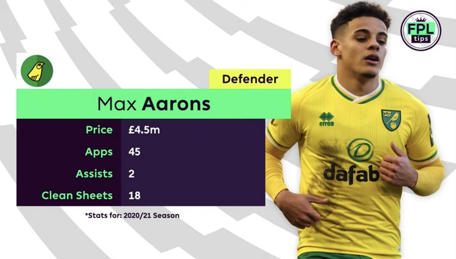 FPL TIPS - NORWICH - MAX AARONS