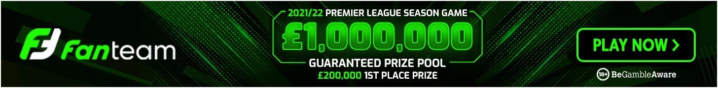 FanTeam £1m million fantasy premier league season long cash game