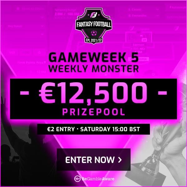 FanTeam Weekly Monster - Gamewek 5