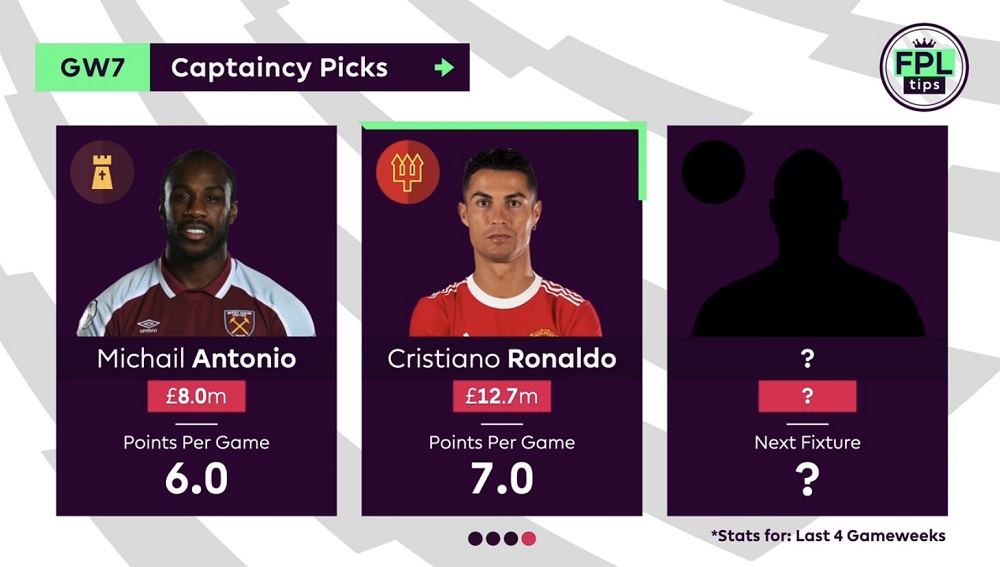 FPLTips - Gameweek 7 Captain Picks - Cristiano Ronaldo
