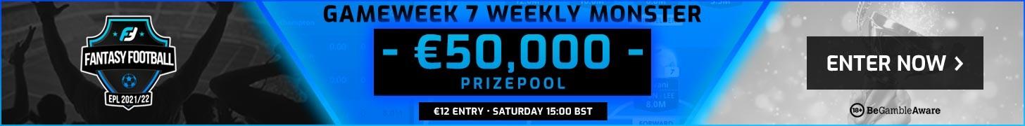 FanTeam's Gameweek 7 FPL Weekly Monster cash game