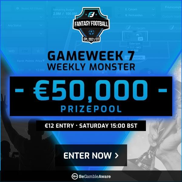 FanTeam's Gameweek 7 Weekly Monster cash game